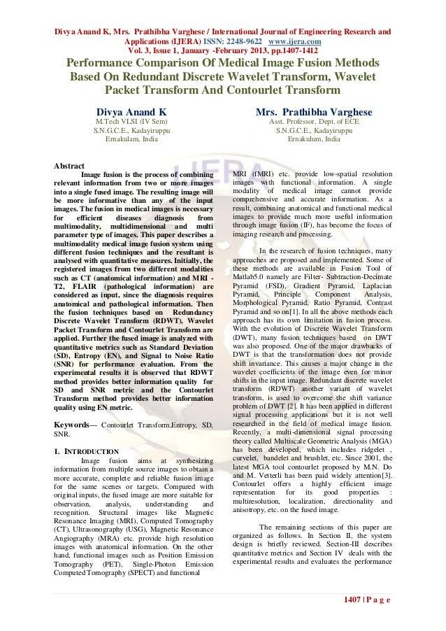 Divya Anand K, Mrs. Prathibha Varghese / International Journal of Engineering Research and                 Applications (I...