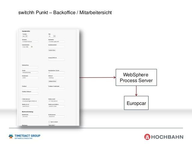 HOCHBAHN Systeme WebSphere Portal Web Content Management  Webanalytics  Forms Experience Builder  Process Server  Matchmak...