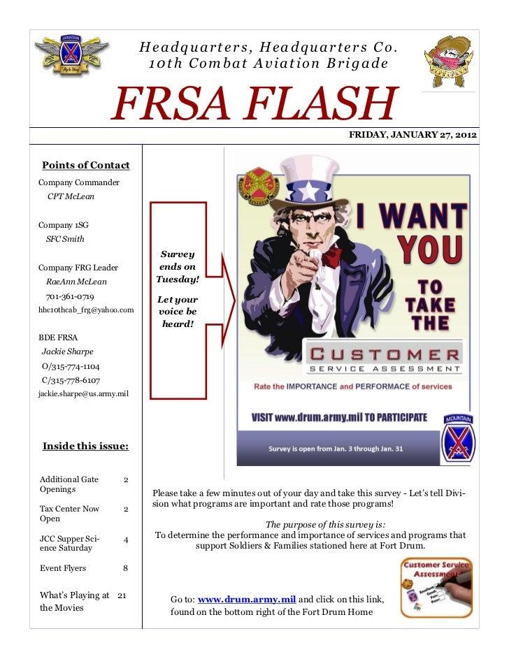 Headquarters, Headquarters Co.                             10th Combat Aviation Brigade                    FRSA FLASH     ...