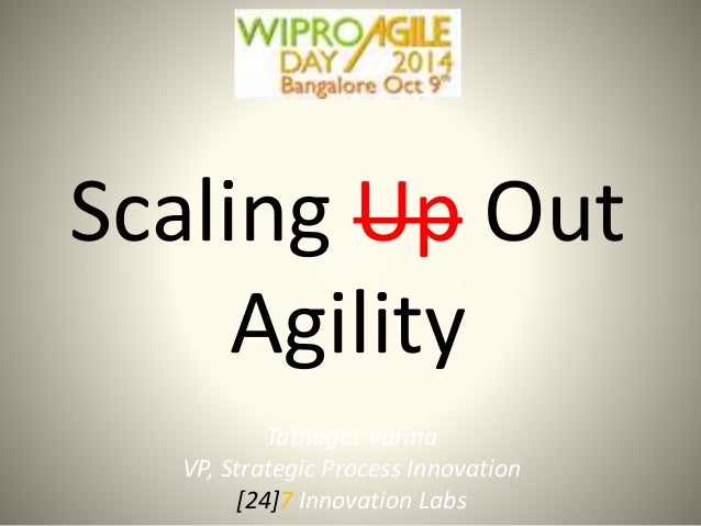 Scaling Up Out  Agility  Tathagat Varma  VP, Strategic Process Innovation  [24]7 Innovation Labs
