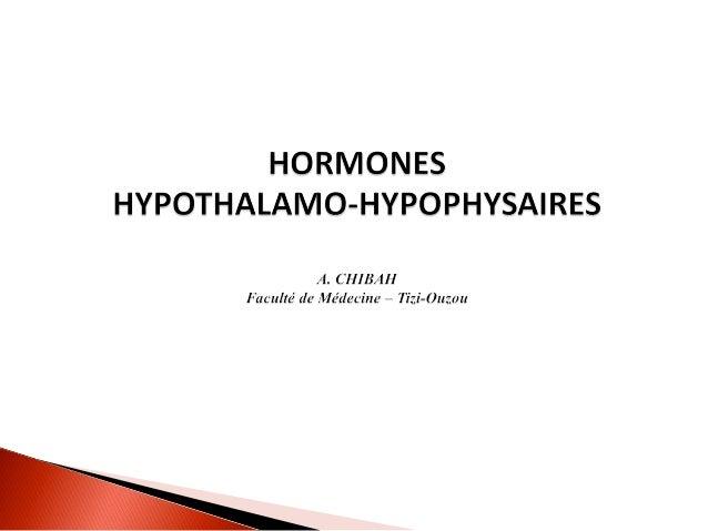Le complexe hypothalamo-hypophysaire est un ensemble constitué par : Hypothalamus. Tige pituitaire. Hypophyse.L'hypotha...