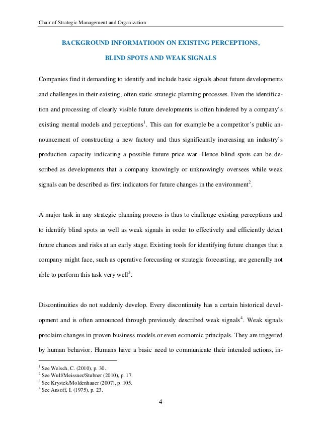 List of stakeholders essay