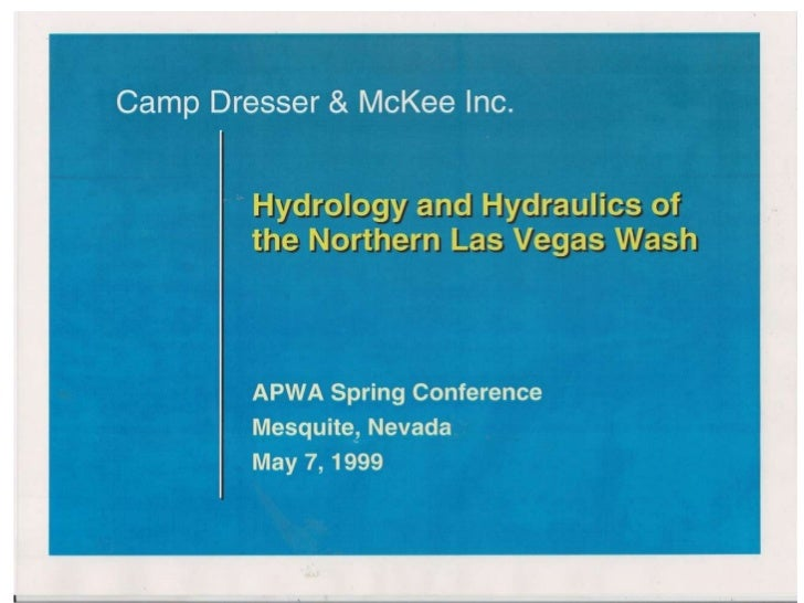 Hydrology & Hydraulics of the Northern Las Vegas Wash