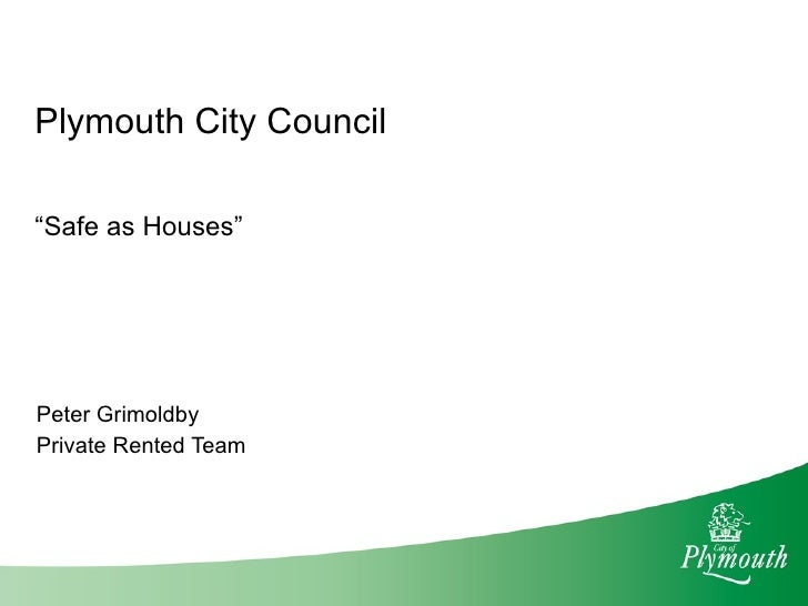 """"""" Safe as Houses"""" Peter Grimoldby Private Rented Team"""