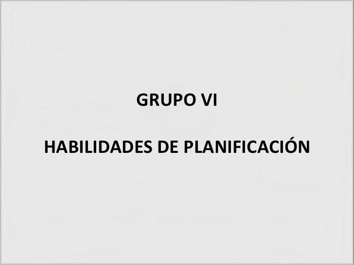 GRUPO VIHABILIDADES DE PLANIFICACIÓN