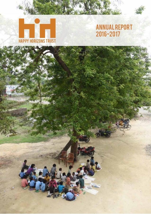 ANNUALREPORT 2016-2017 HAPPY HORIZONS TRUST