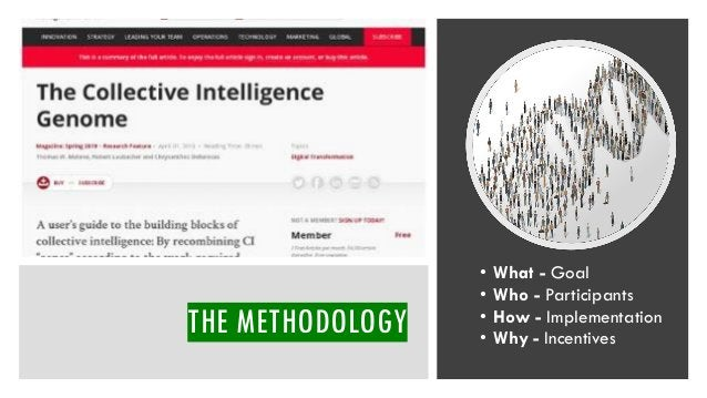 THE METHODOLOGY • What - Goal • Who - Participants • How - Implementation • Why - Incentives