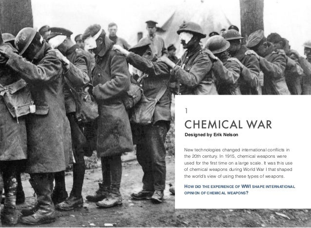 research on chemical warfare In response to the horror of chemical warfare during world war i,  some of the mentioned countries began a rather ambitious biological warfare research program .