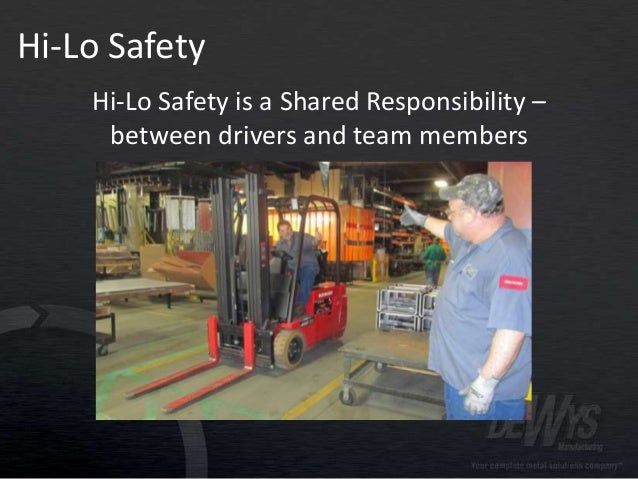 DeWys Mfg. Hi-Lo Safety Tips