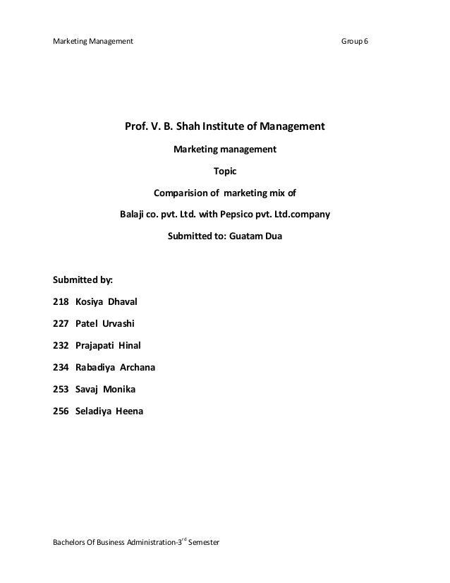 Marketing Management Group 6Bachelors Of Business Administration-3rdSemesterProf. V. B. Shah Institute of ManagementMarket...
