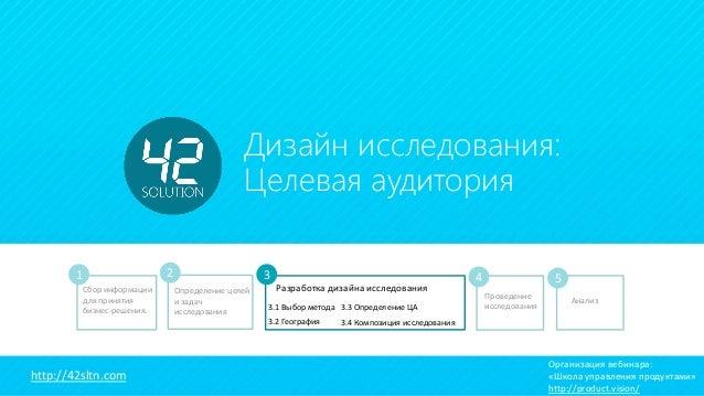 23 Декабря 2014 Дизайн исследования: Целевая аудитория Сбор информации для принятия бизнес-решения. Определение целей и за...