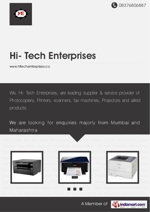 08376806887A Member ofHi- Tech Enterpriseswww.hitechenterprises.coCanon B&W Multifunction Printers Canon Colour Multifunct...