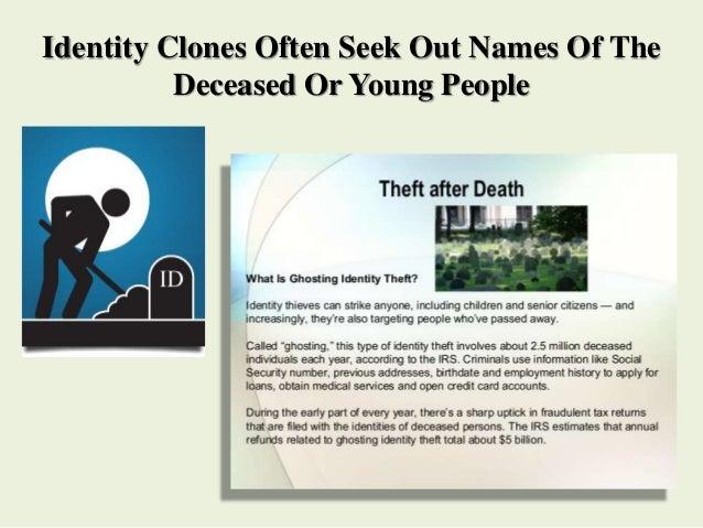 Ghosting identity theft