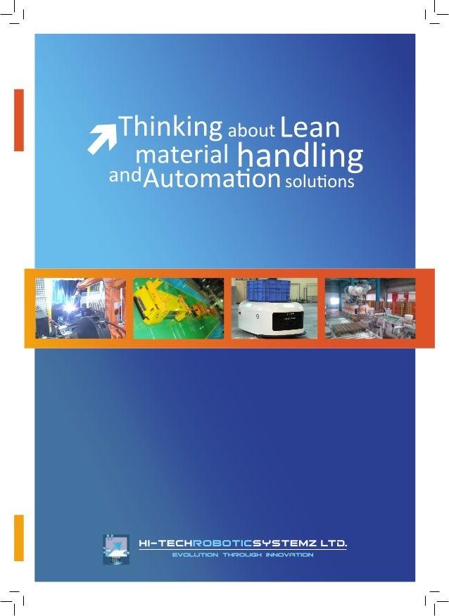 Hi-Tech Robotic Systemz Ltd , Pune, Material Handling Solution