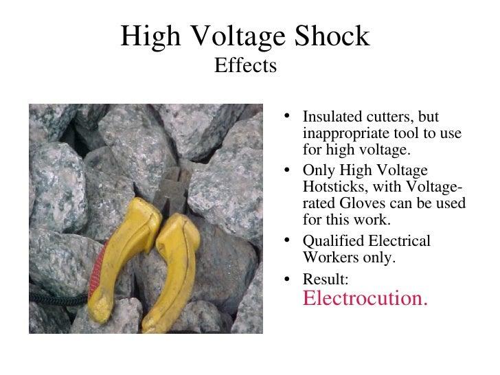 Voltage Rated Gloves : Hi voltage shock