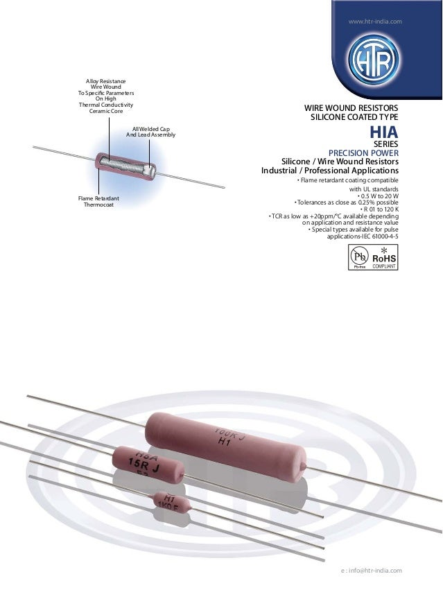 HTR India - Products - Wire Wound Resistors - Silicone Coated Resisto…