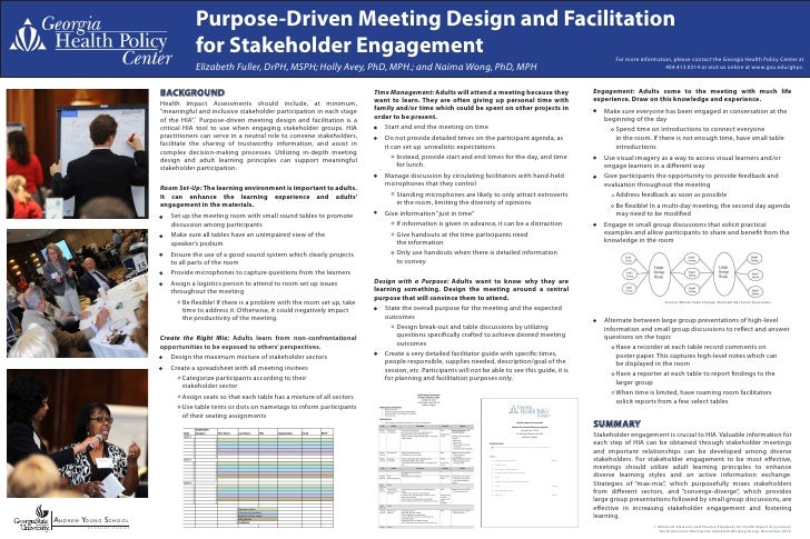 Purpose-Driven Meeting Design and Facilitation                                        for Stakeholder Engagement          ...