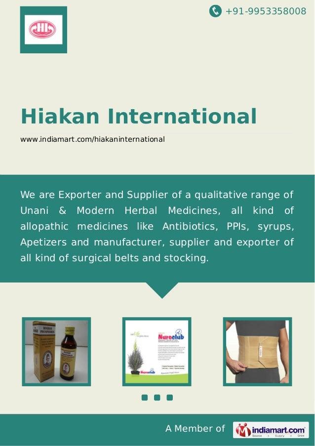 Hiakan International, Delhi, Unani Medicines