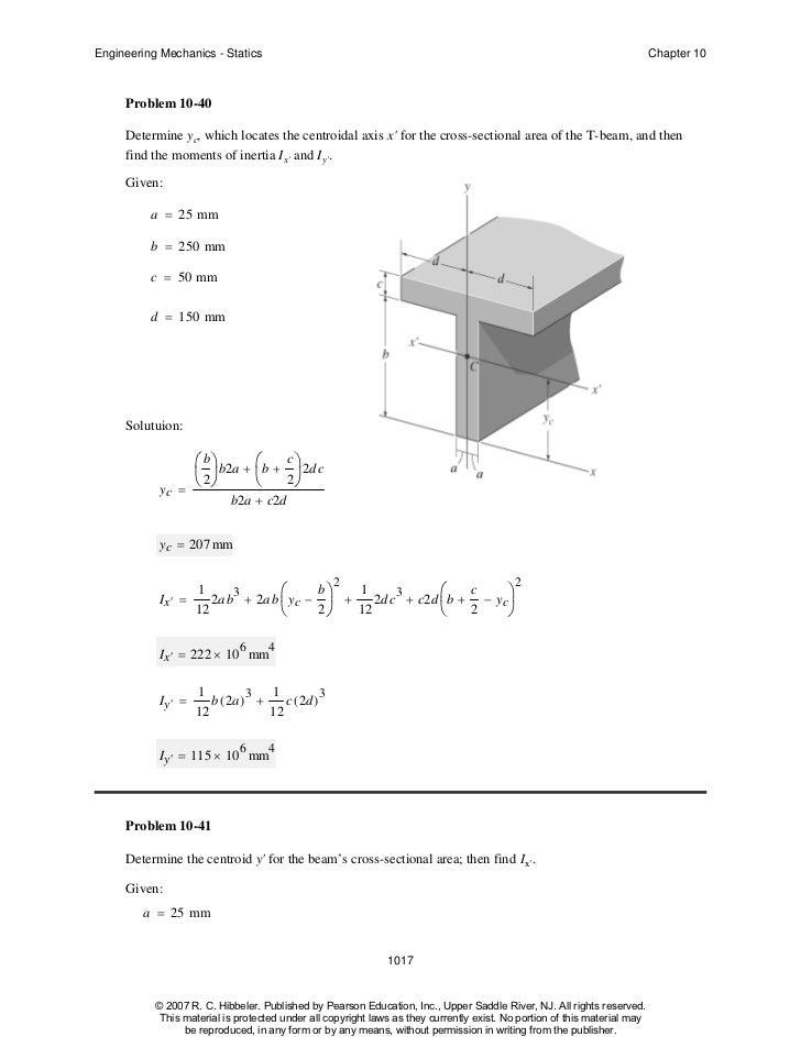 Centroid, area, moments of inertia, polar moments of inertia.