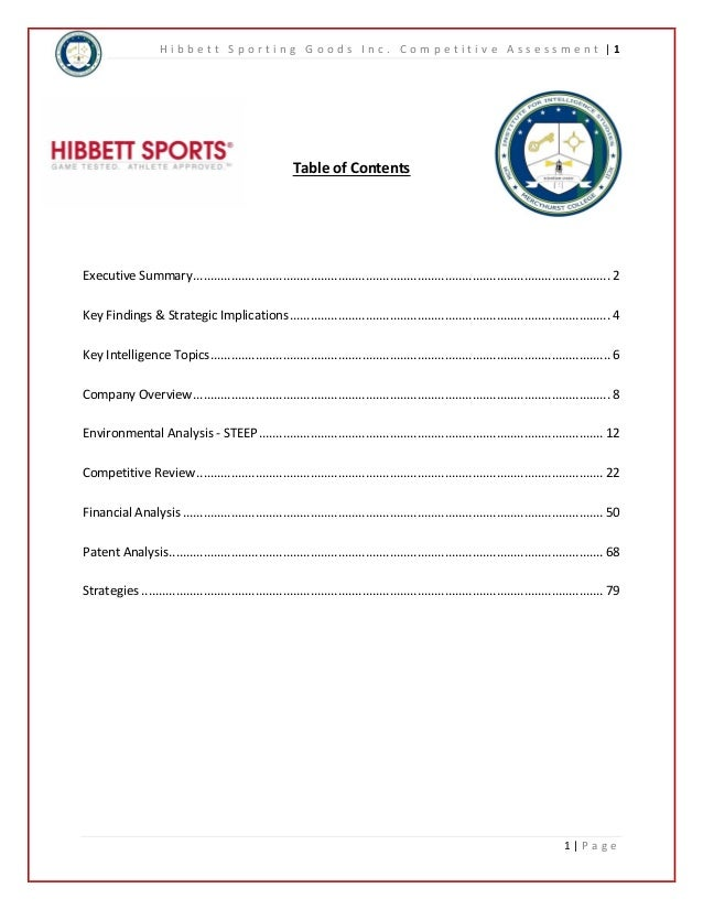 Hibbett Sporting Goods Competitive Overview