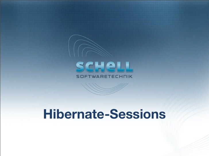 Hibernate-Sessions