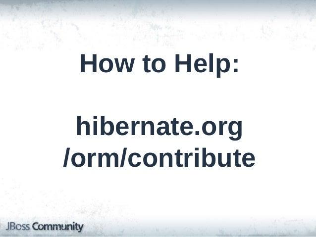 Hibernate ORM: Tips, Tricks, and Performance Techniques  Tomorrow, 1pm, Ballroom D