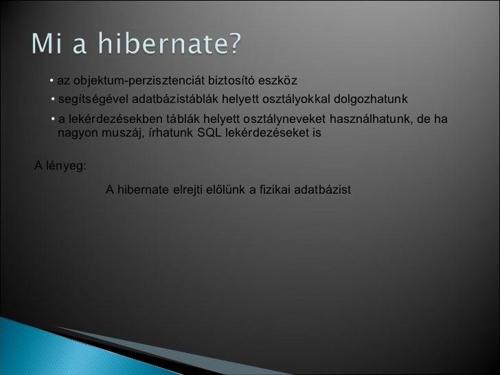Hibernate tutorial Slide 2