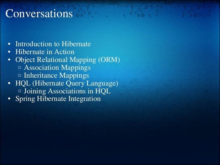 Hibernate training Slide 2
