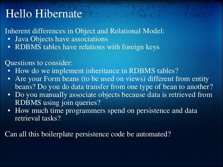 Hibernate training Slide 3