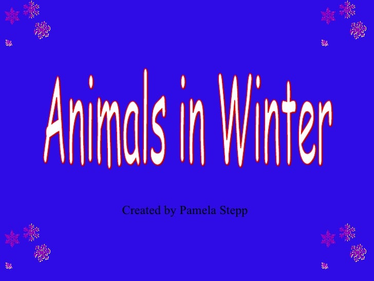 Animals in Winter Created by Pamela Stepp