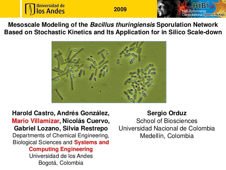 2009 Mesoscale Modeling of the Bacillus thuringiensis Sporulation NetworkBased on Stochastic Kinetics and Its Application ...