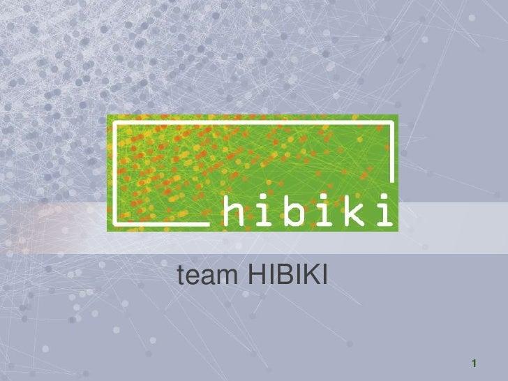 Team HIBIKI<br />team HIBIKI<br />1<br />