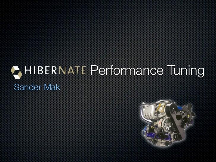 Performance Tuning Sander Mak