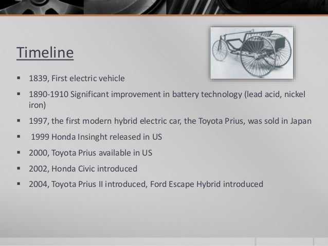 history of the electric vehicle essay Electric vehicles first appeared in the mid-19th century an electric vehicle held the vehicular land speed record until around 1900 the high cost, low top speed.