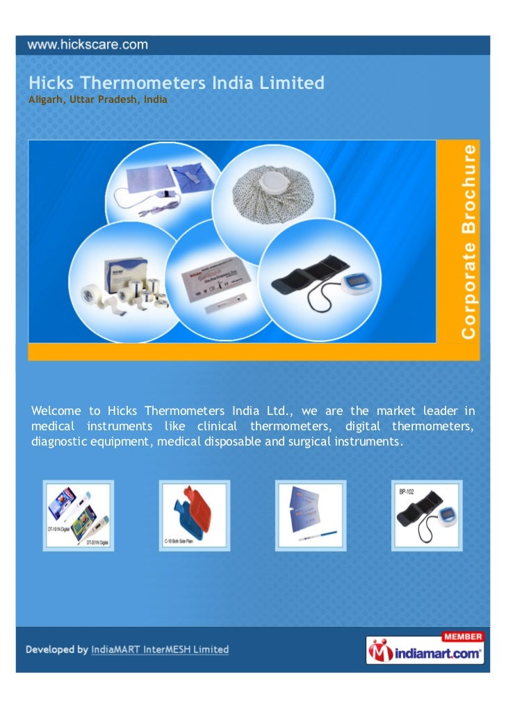 Hicks Thermometers India LimitedAligarh, Uttar Pradesh, IndiaWelcome to Hicks Thermometers India Ltd., we are the market l...