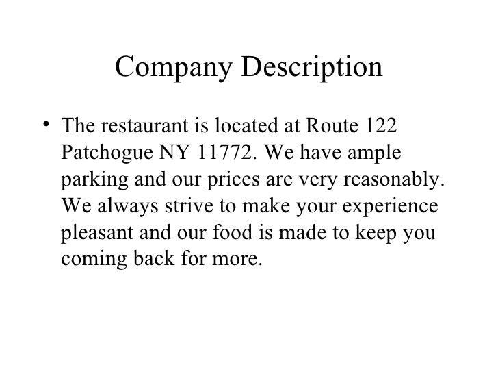 3 company description
