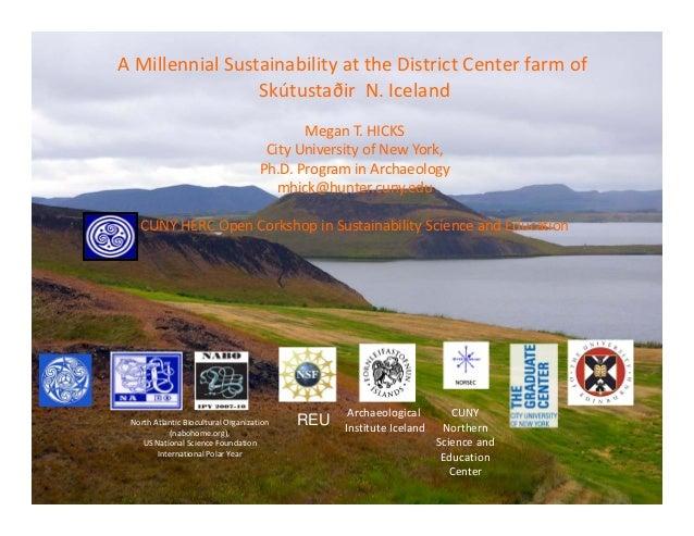 AMillennialSustainabilityattheDistrictCenterfarmof                 SkútustaðirN.Iceland                        ...