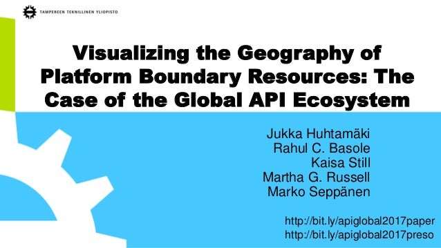 Visualizing the Geography of Platform Boundary Resources: The Case of the Global API Ecosystem Jukka Huhtamäki Rahul C. Ba...