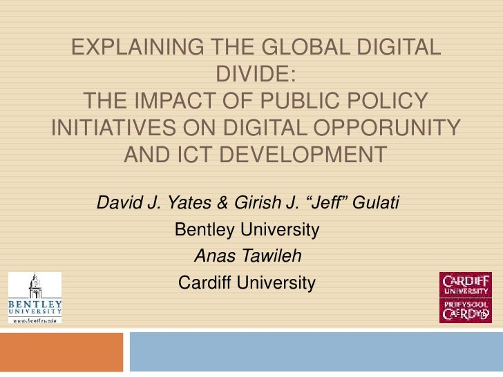 Explaining the Global Digital Divide: The Impact of Public Policy Initiatives on DIGITAL OPPORUNITY and ict development<br...