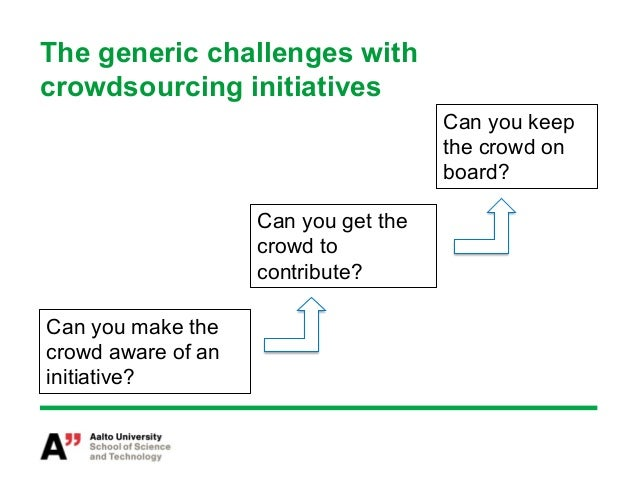 Conclusion•   Despite the provocative title of this paper we do not want to     claim that crowdsourcing is doomed to fai...