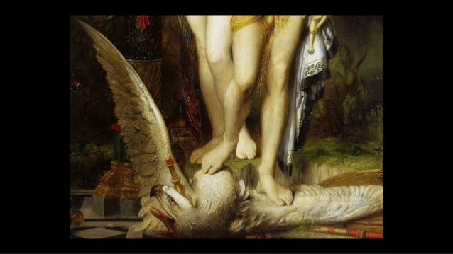 a dragon rises up from the earth and the thunderbolt from Zeus is flying down to kill Phaethon ... Gustave Moreau The Fall...