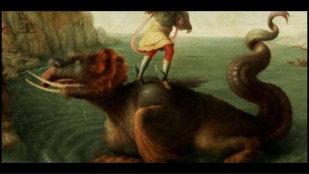 L'archange Michel immobilise la monstrueuse créature dans un mouvement athlétique et rapide ... ... Alors j'ai vu un ange ...
