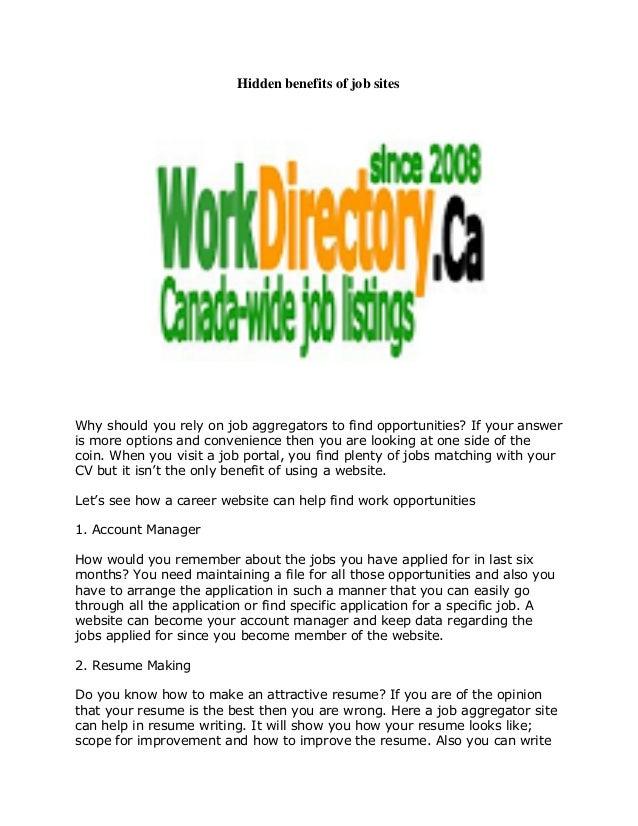 hidden benefits of job sites