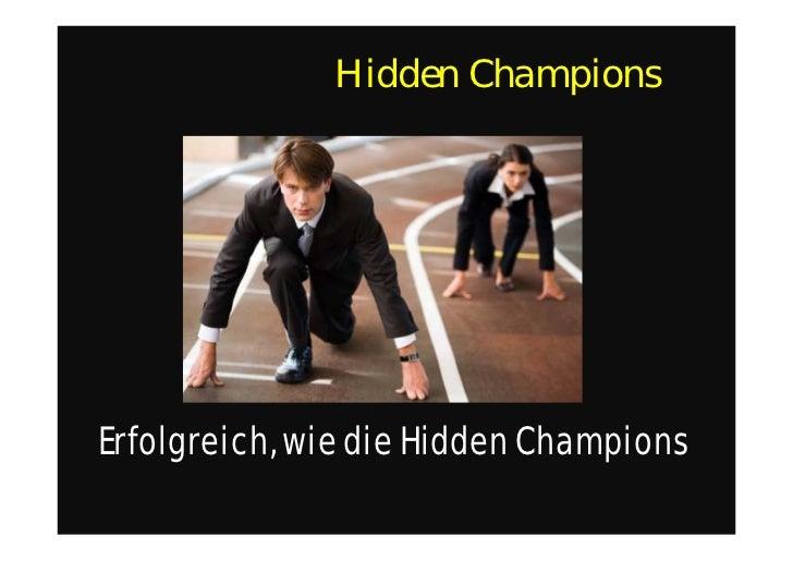 Hidden ChampionsErfolgreich, wie die Hidden Champions