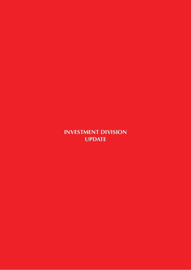 INVESTMENT DIVISION UPDATE