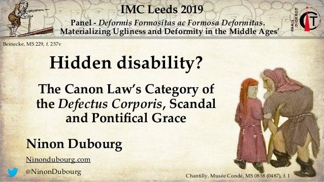 Panel - Deformis Formositas ac Formosa Deformitas. Materializing Ugliness and Deformity in the Middle Ages' Beinecke, MS 2...