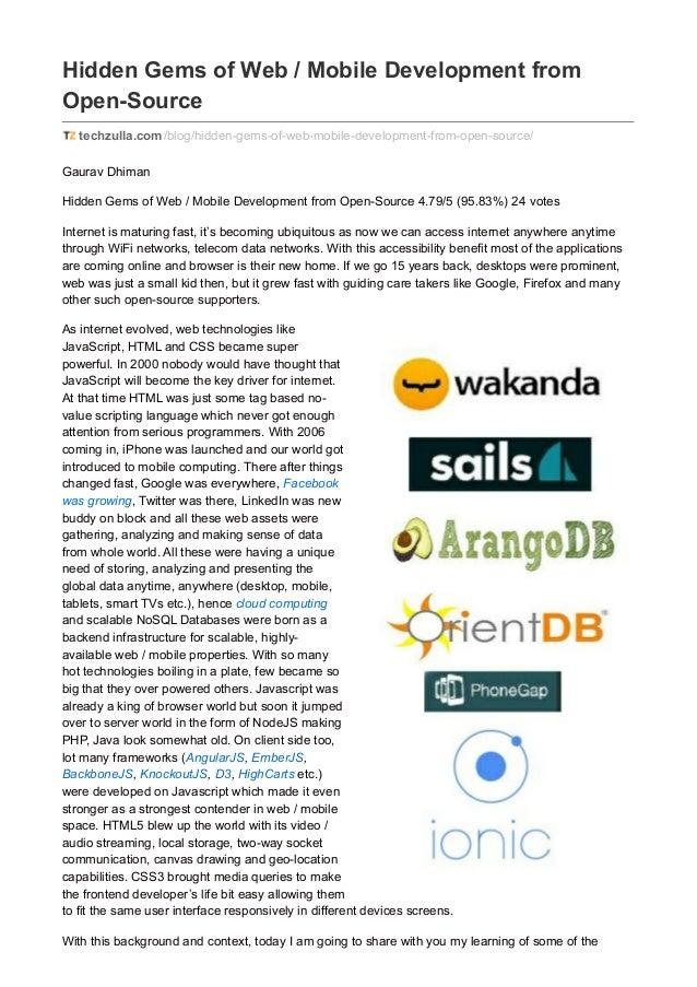 Hidden Gems of Web / Mobile Development from Open-Source techzulla.com/blog/hidden-gems-of-web-mobile-development-from-ope...
