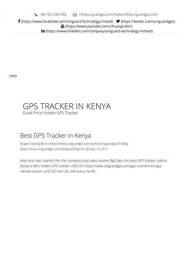 Hidden gps tracker in kenya