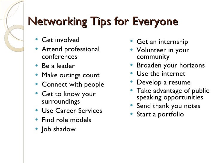 ... 24. Networking Tips ...