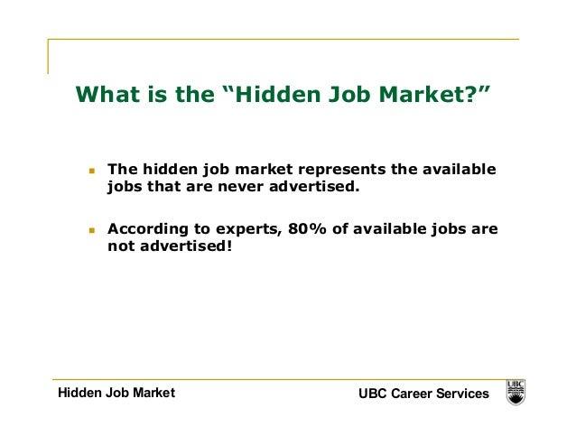 Hidden job market & power of networking